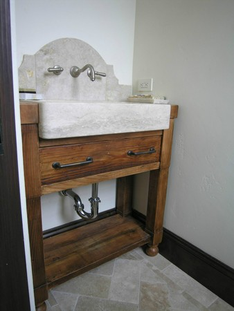 Old Douglas Fir Sure Does Clean Up Well When You Ask It To Reclaimed Powder Bath Vanity
